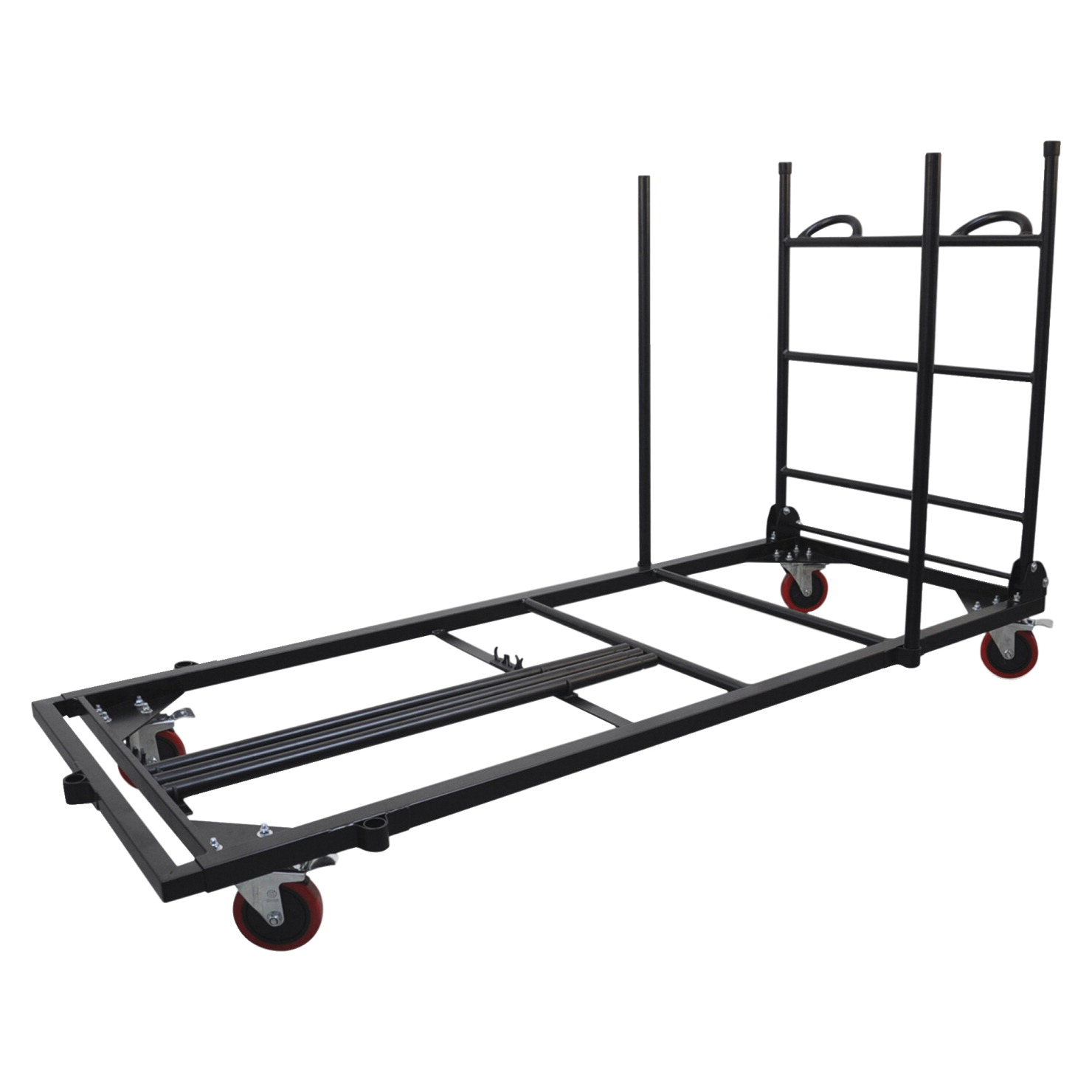 Lorell Blow Mold Rectangular Table Trolley Cart, 30 x 45-7/25 x 75-43/50 in, Charcoal