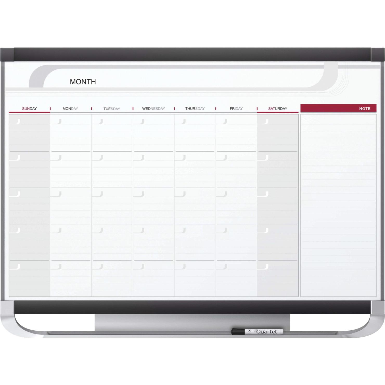 Dry Erase Calendar Staples : Quartet total erase monthly undated calendar with marker