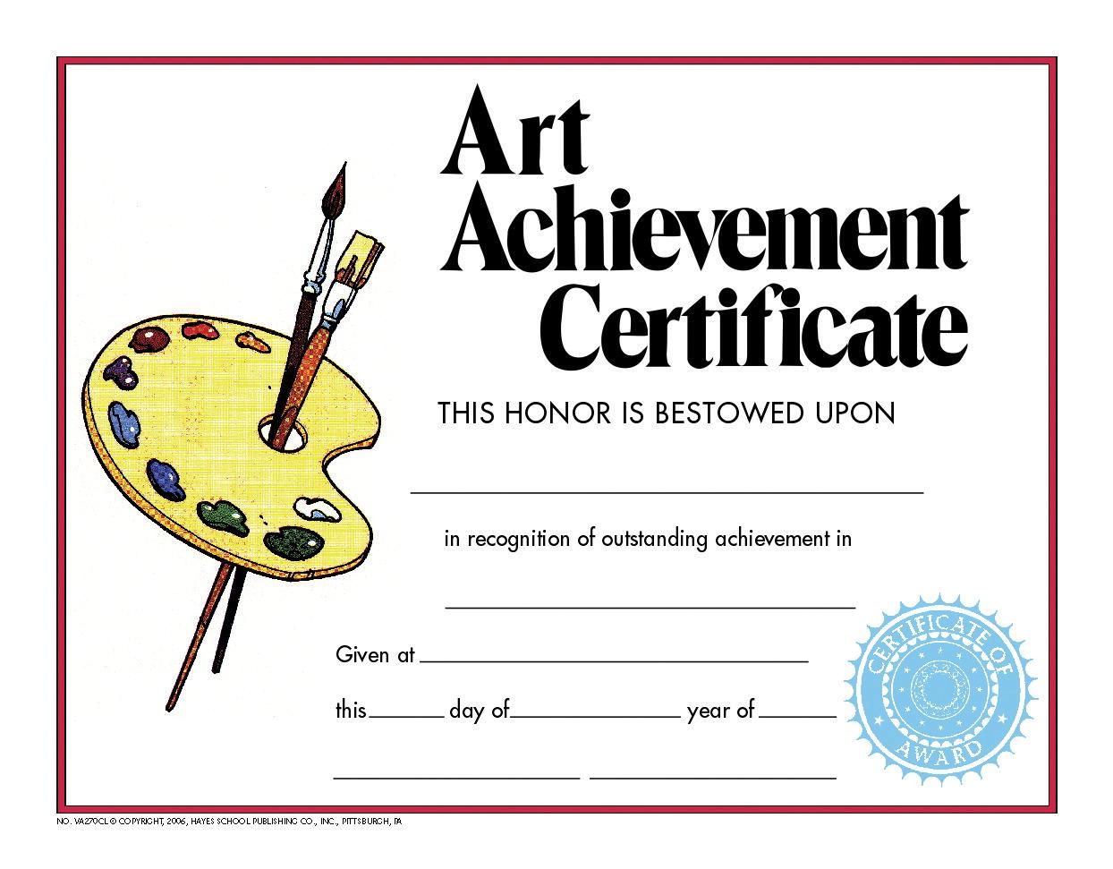 Hayes Achievement Certificate School Specialty Canada