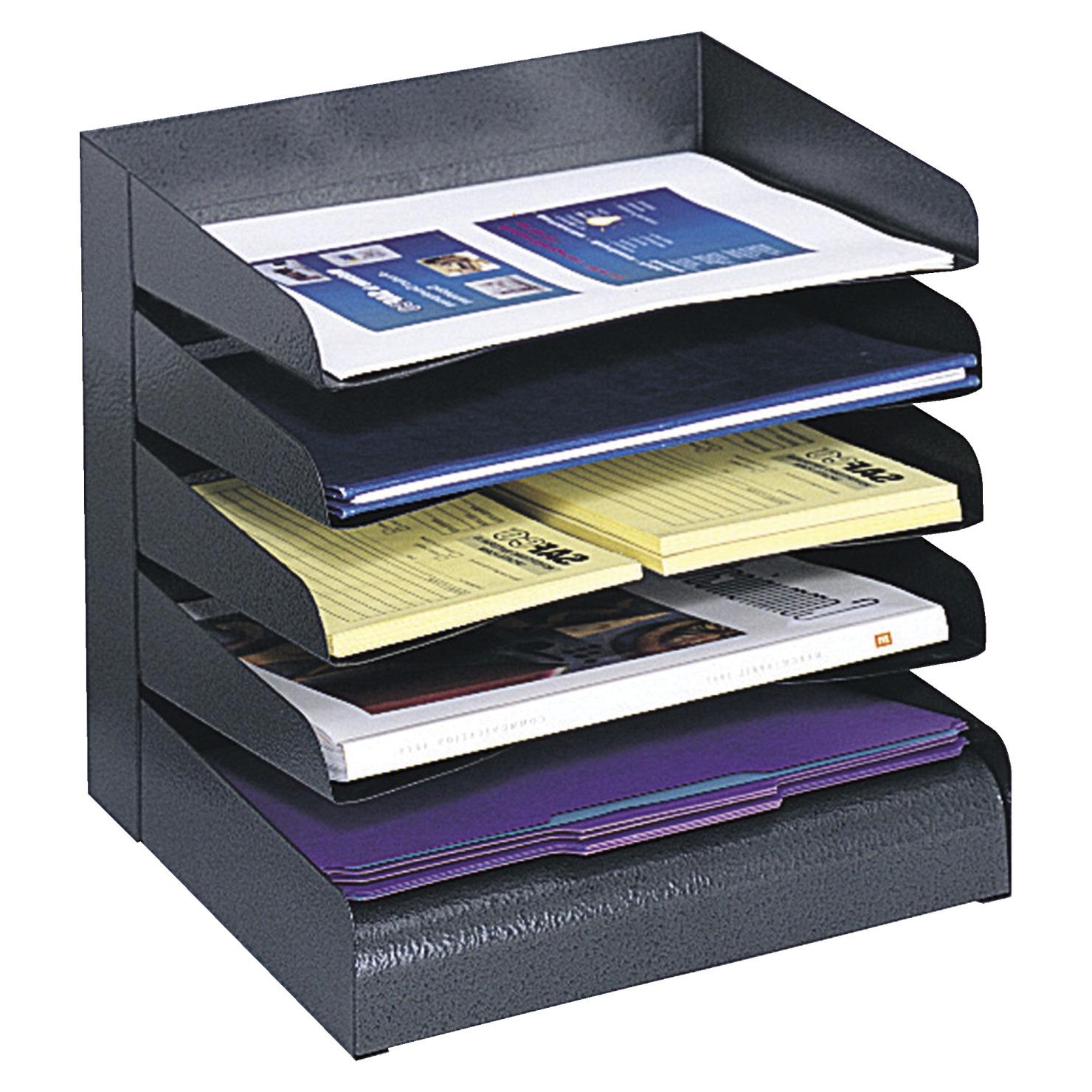 Safco Steel Slanted Desk Tray Sorter 5 Tier 12 W X 9 1