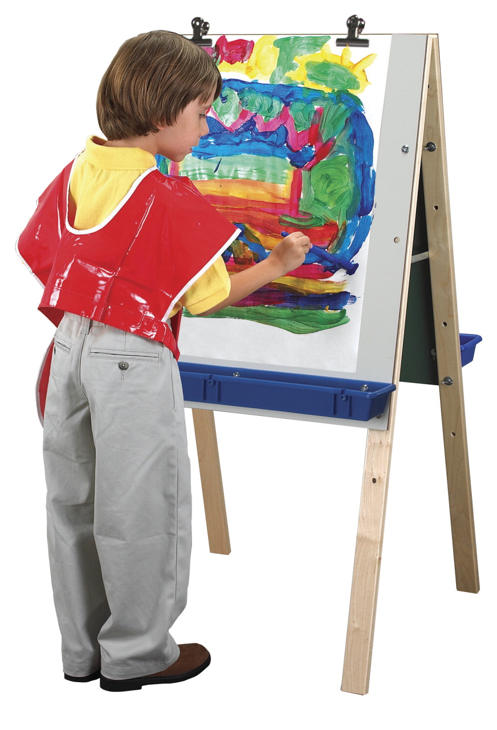 Childcraft Basic Double Adjustable Easel, Dry Erase Panels, 23-3/4 W x 44-3/4 H in