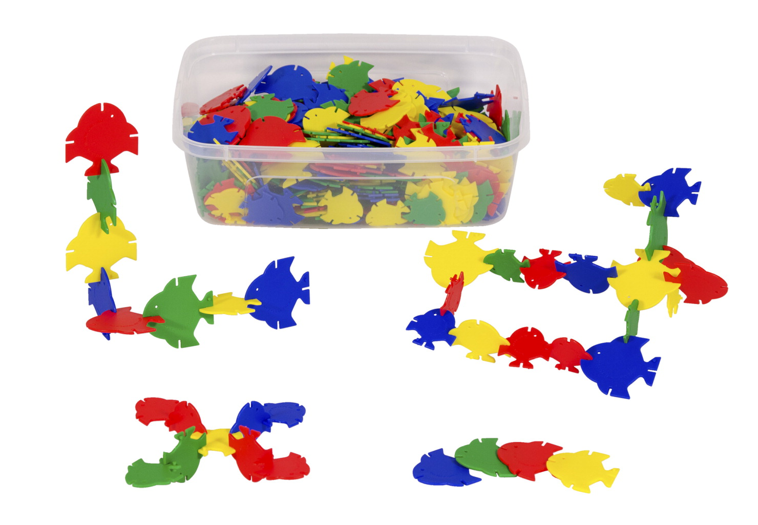 Childcraft Preschool Manipulative Fish Blocks, 420 Pieces and 1 Container