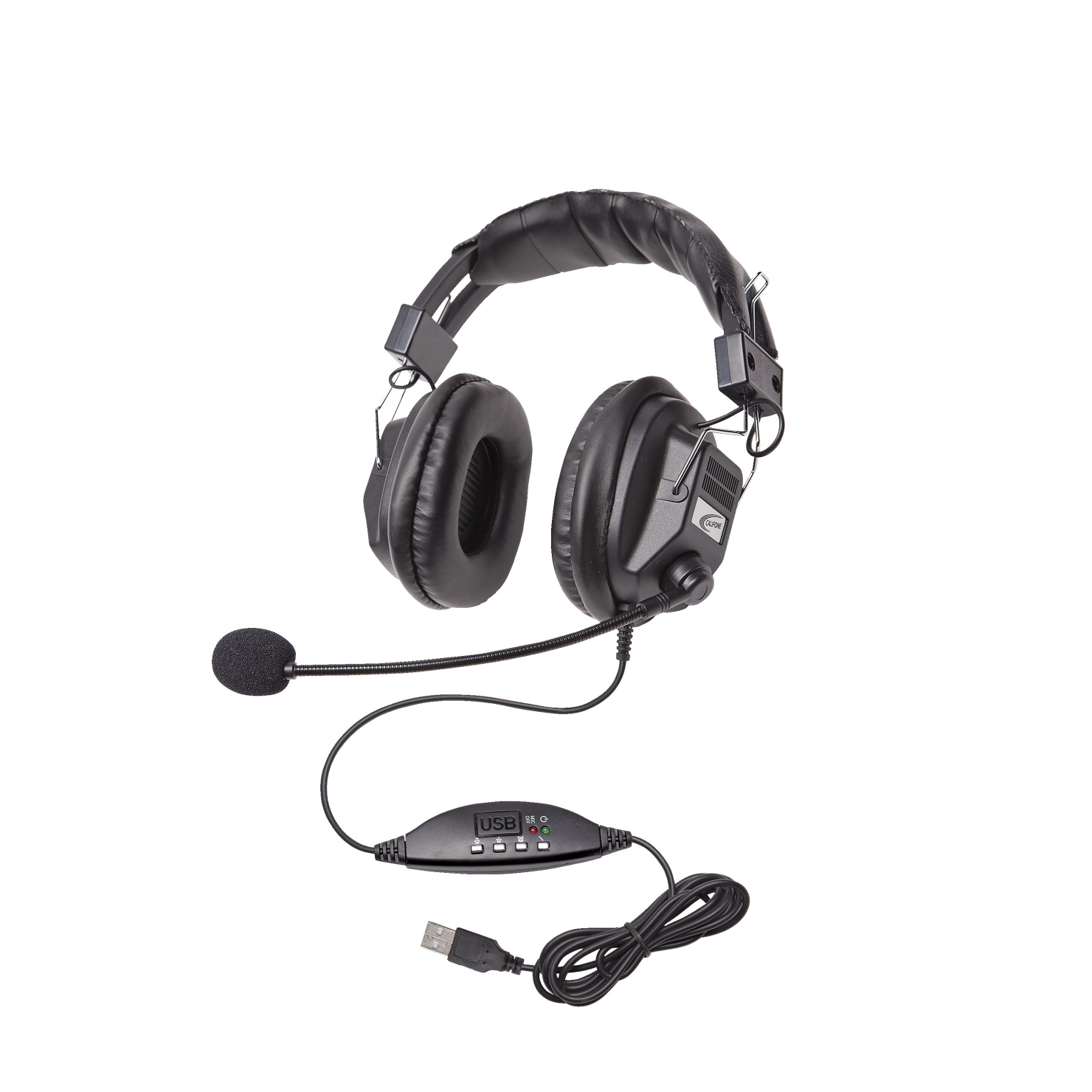 Califone 3068MUSB Headset With USB Plug, Black