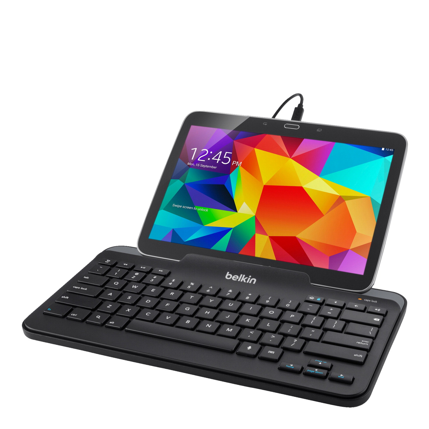 Belkin Bluetooth Keyboard Pairing Android: Belkin B2B132 Wired Keyboard With Stand For Android, 5 Pin Micro-USB