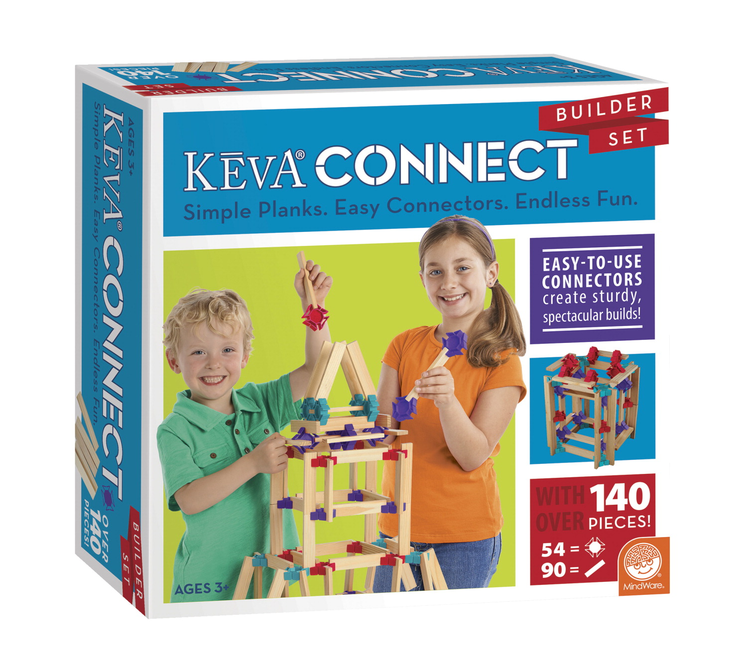 Mindware KEVA Connect Builder Set, 144 Pieces