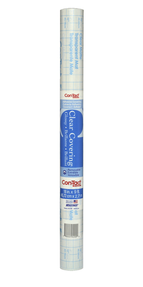 Con Tact Creative Adhesive Liner 18 Inches X 9 Feet Clear Gloss School Specialty Marketplace