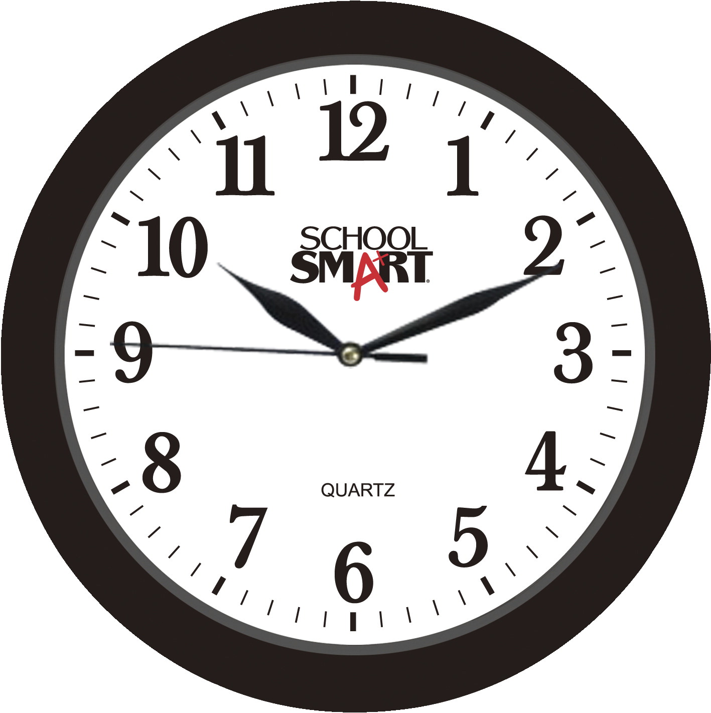 School Smart Silent Movement Wall Clock, 10 in White Dial/Black ...