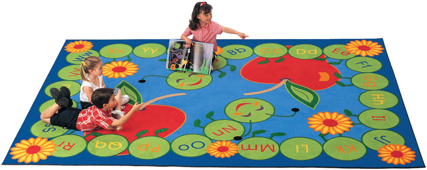 Carpets For Kids ABC Caterpillar Rug, 8 Feet 4 Inches x 11 Feet 8 Inches, Rectangle