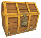 Teacher Created Resources Treasure Chest, Brown, 9.5 in x 8 in x 8.5 in