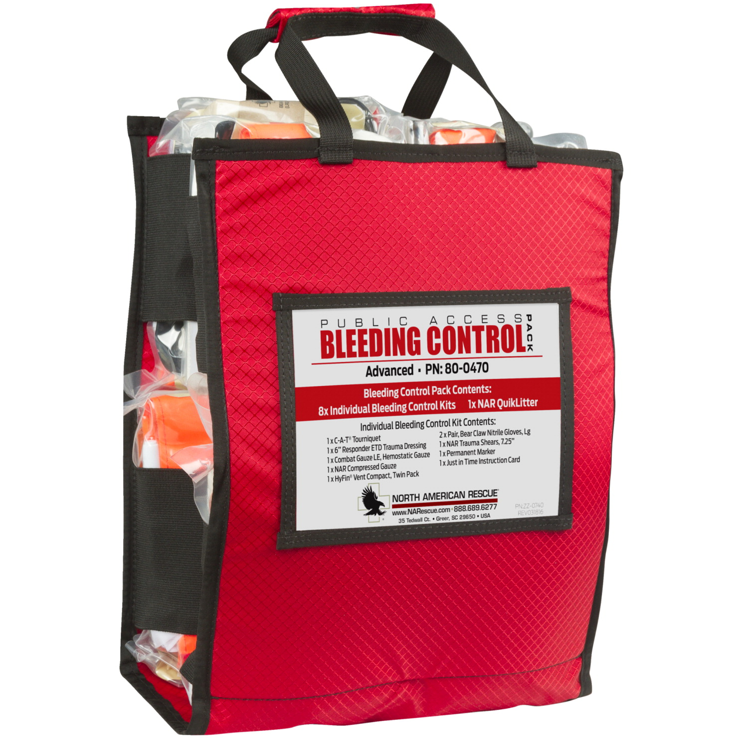 North American Rescue Public Access Bleeding Control, Advanced