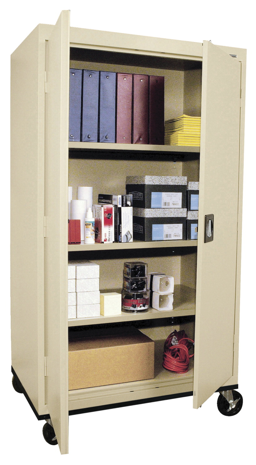 Sandusky Lee Elite 4 Shelf Transport Mobile Cabinet, 36 x 24 x 66 Inches, Various Options