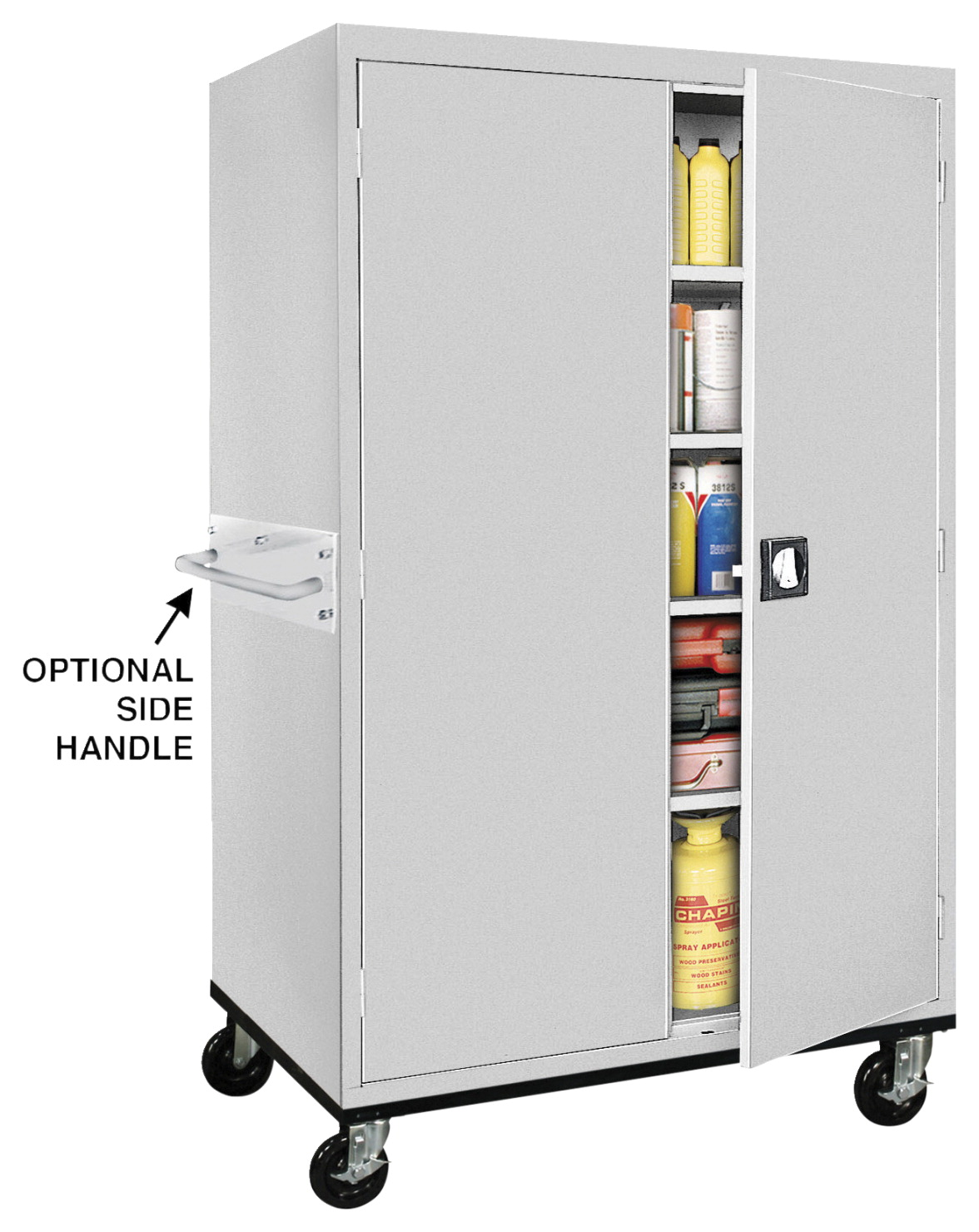 Atlantic Metal Mobile Heavy Duty Storage Cabinet 36 X 24 Inches Various