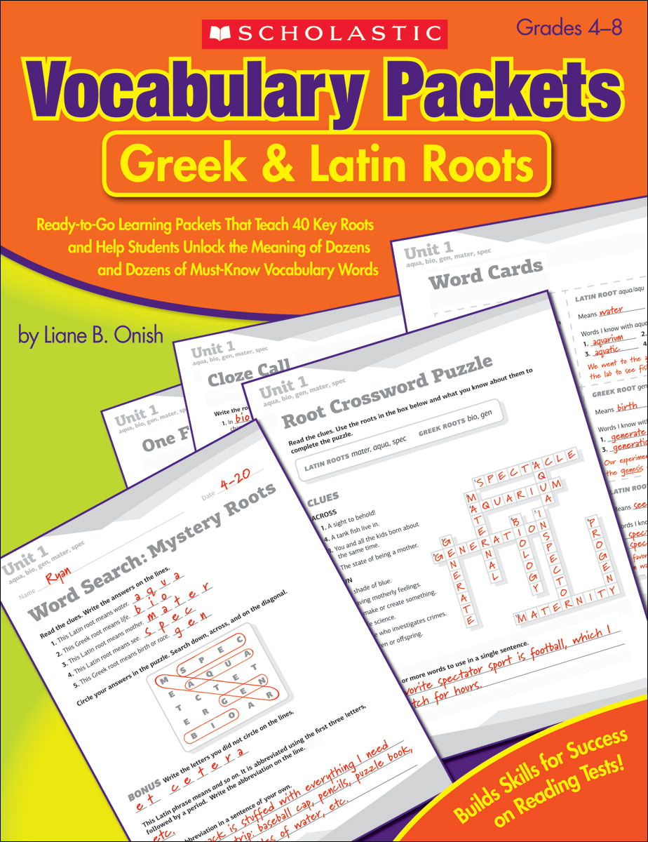 Scholastic Vocabulary Packets School Specialty Marketplace