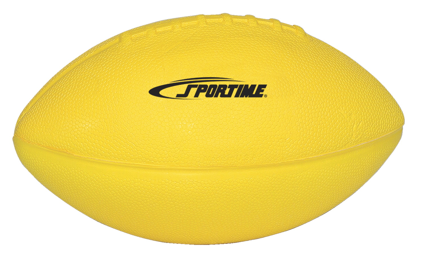 Sportime Coated Foam Junior Football High Visibility Yellow