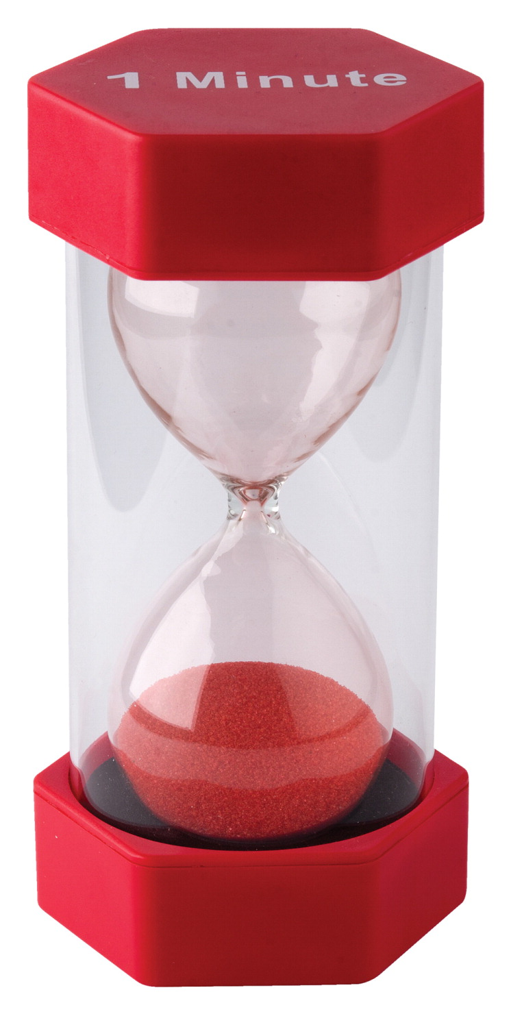 Teacher Created Resources Large Sand Timer, 1 Minute, 3-1/4 x 6-3/8 Inches