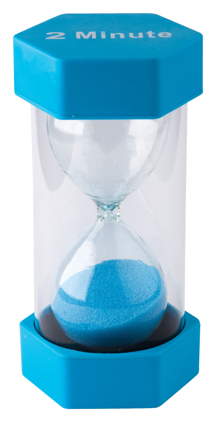 Teacher Created Resources Large Sand Timer, 2 Minutes, 3-1/4 x 6-3/8 Inches