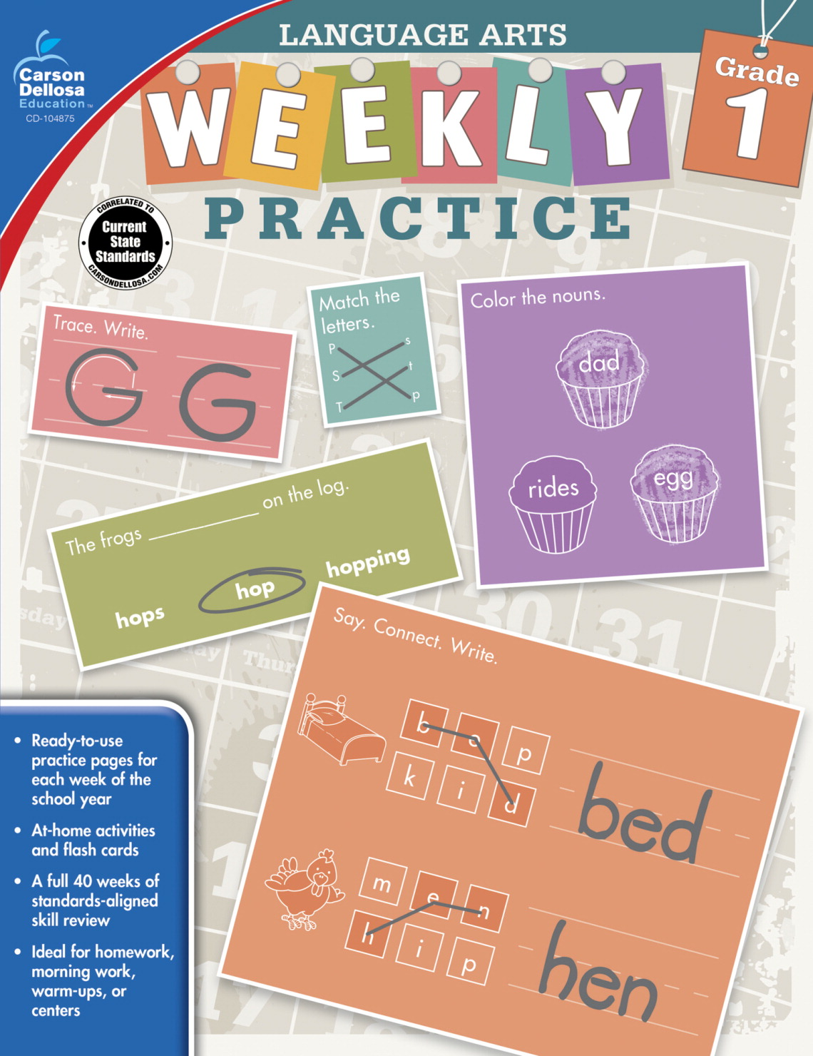 Weekly Practice Language Arts, Grade 1 - SCHOOL SPECIALTY ...