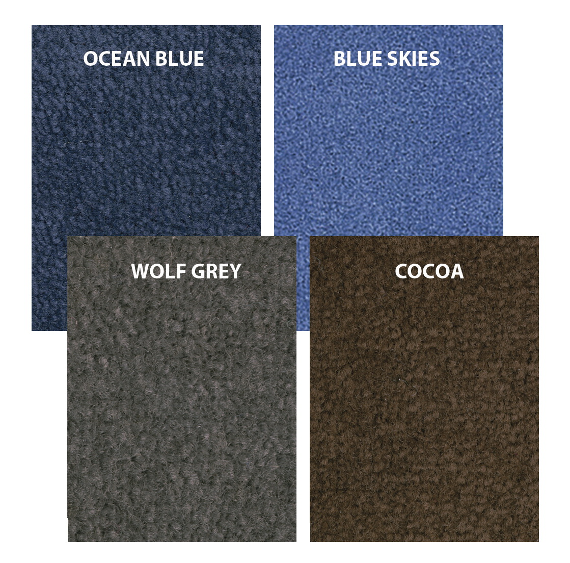 Carpets for Kids Mount Shasta Solid Color Carpet, 6 x 9 Feet, Rectangle, Various Options