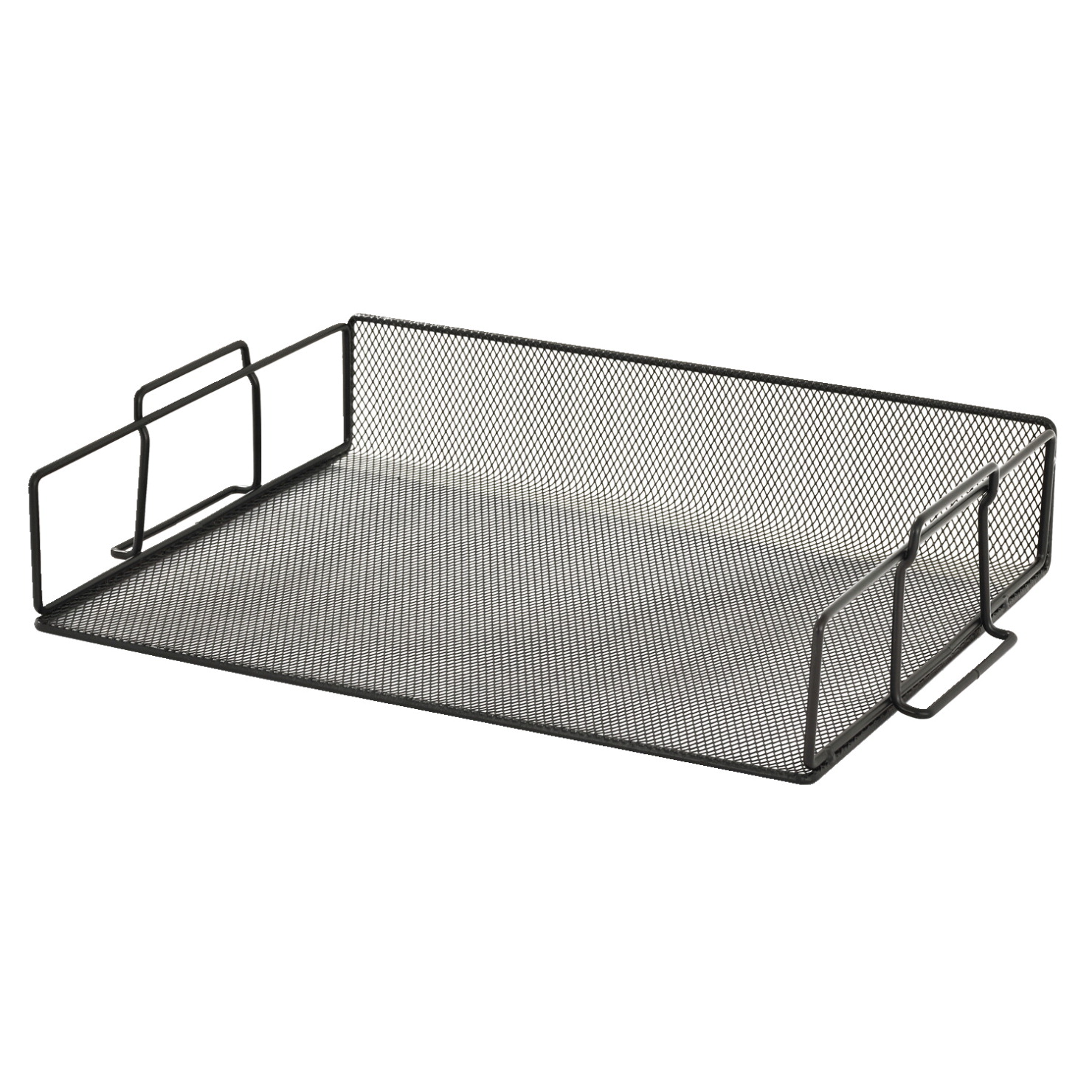 sandusky black metal mesh stackable letter tray school With black wire mesh letter tray