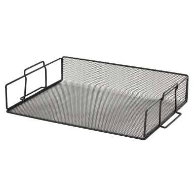 Buddy Products Mesh Stackable Letter Tray Metal Black