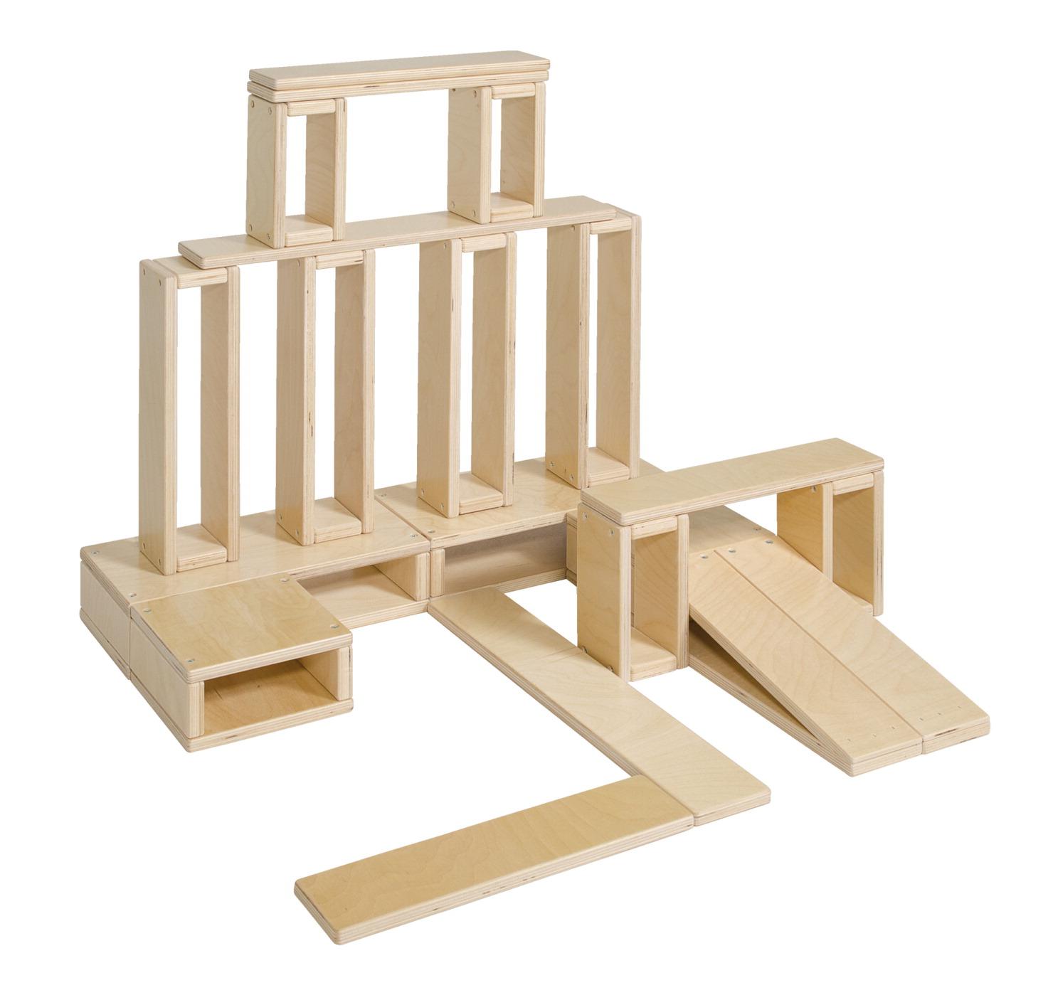 School specialty finished hollow blocks preschool size