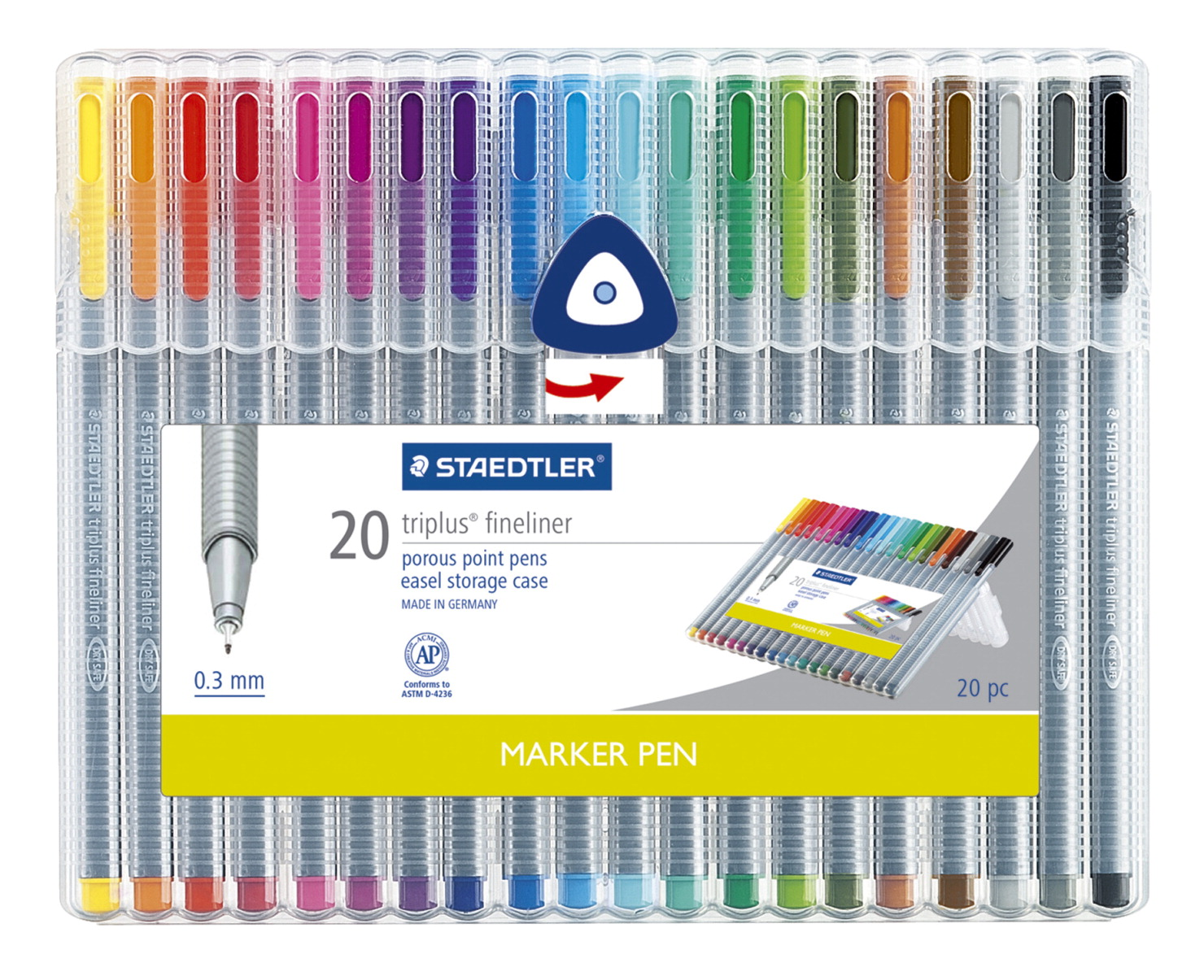 Staedtler Triplus Fineliner Marker Pens Pack Of 20 School Specialty Marketplace