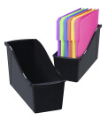 Storex Large Book Bin, Black
