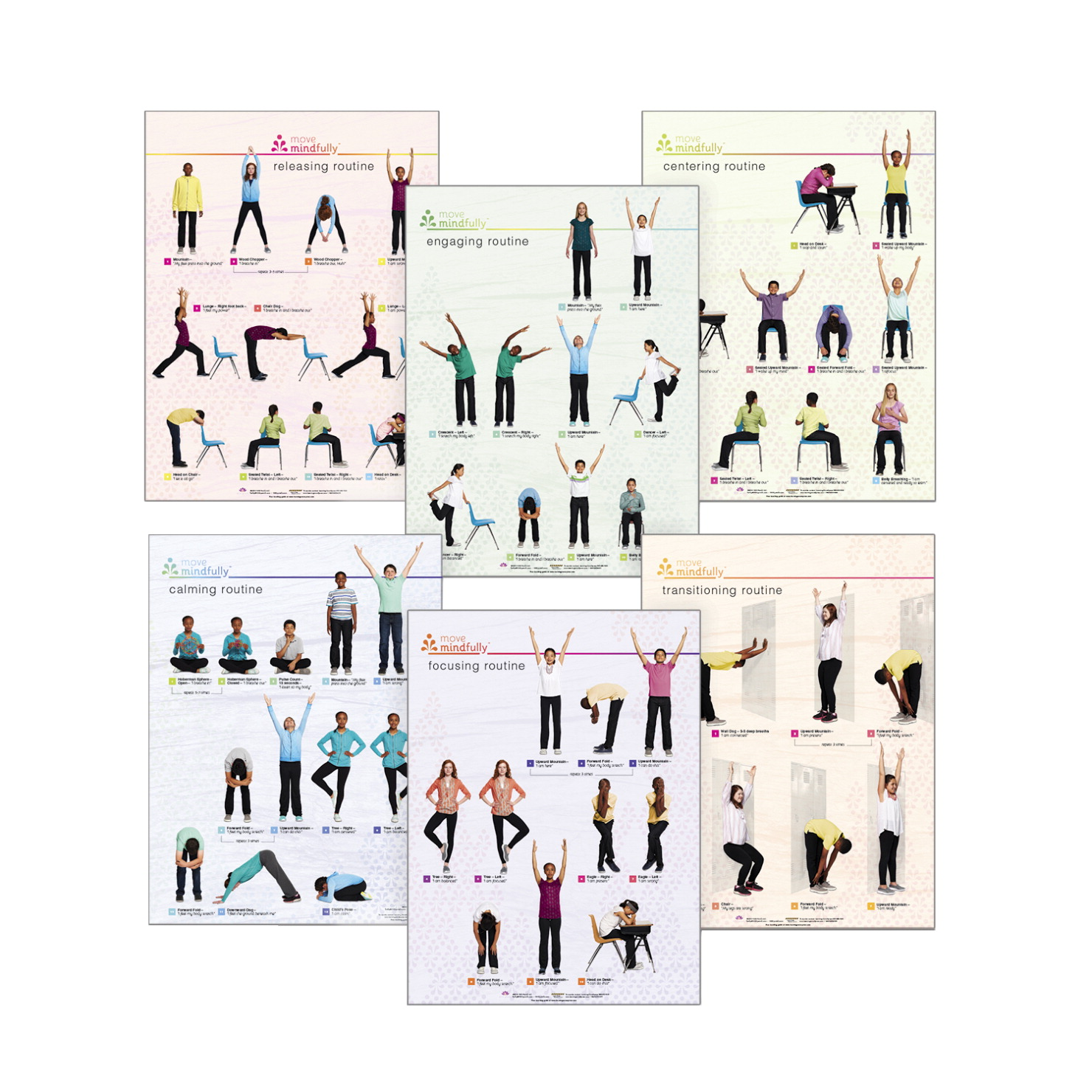 Learning ZoneXpress Move Mindfully Poster Set