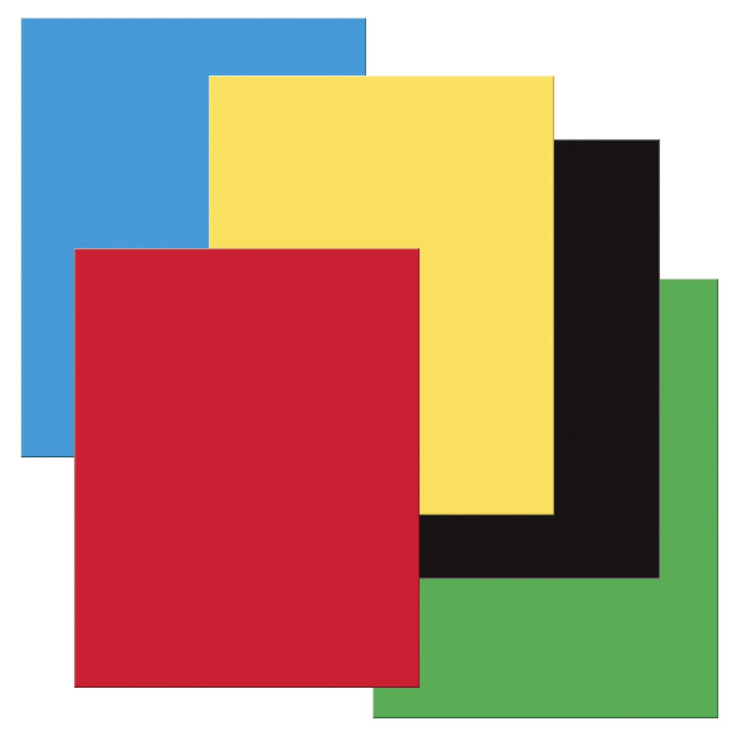 Pacon Heavy-Duty Poster Board, Primary Assorted Colors