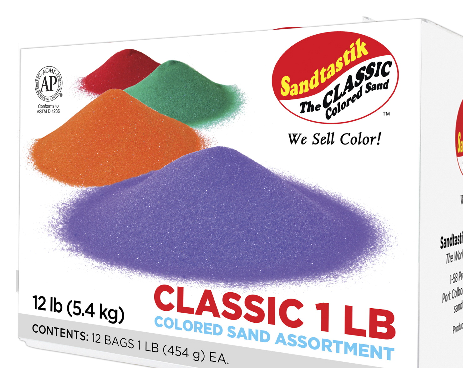Sandtastik Colored Sand Classroom Pack 1 Pound Bags Assorted Colors Set Of 12
