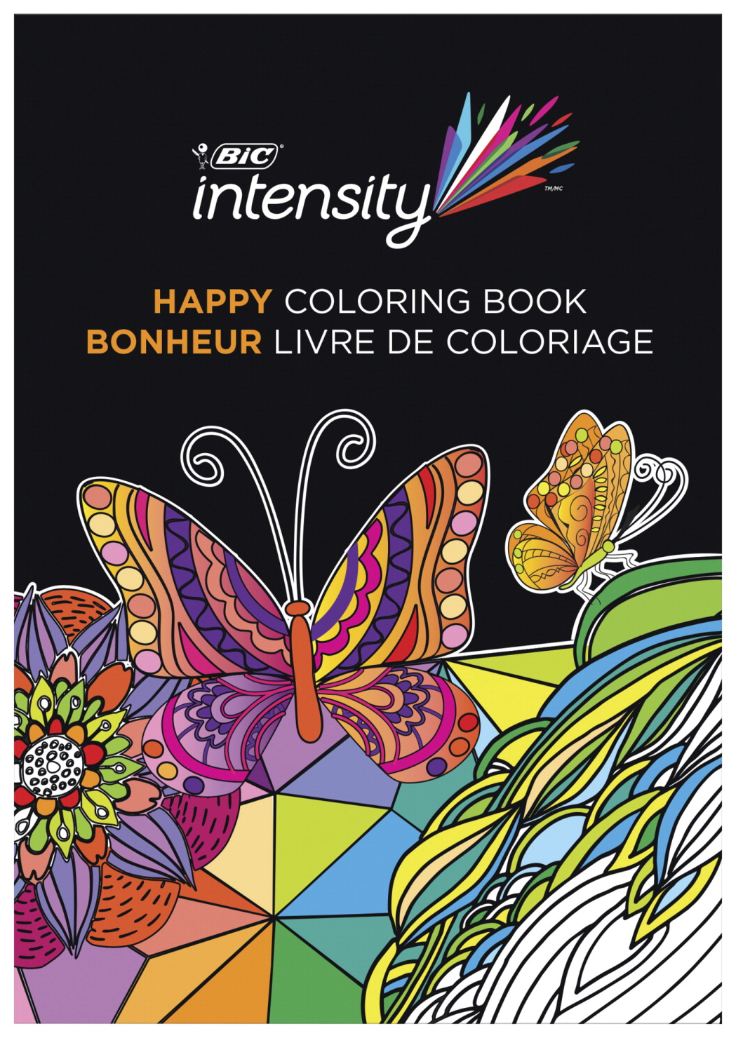 BIC Adult Coloring Books, Calm Designs, Pack of 6