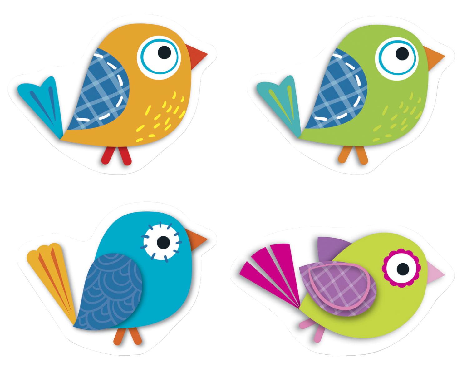 Carson Dellosa Mini Boho Birds Cut Outs 3 X 3 Inches Set Of 36