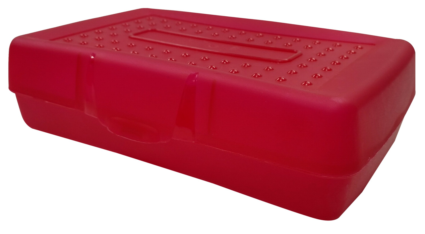 School Smart Light Duty Plastic Pencil Box, Red Tint