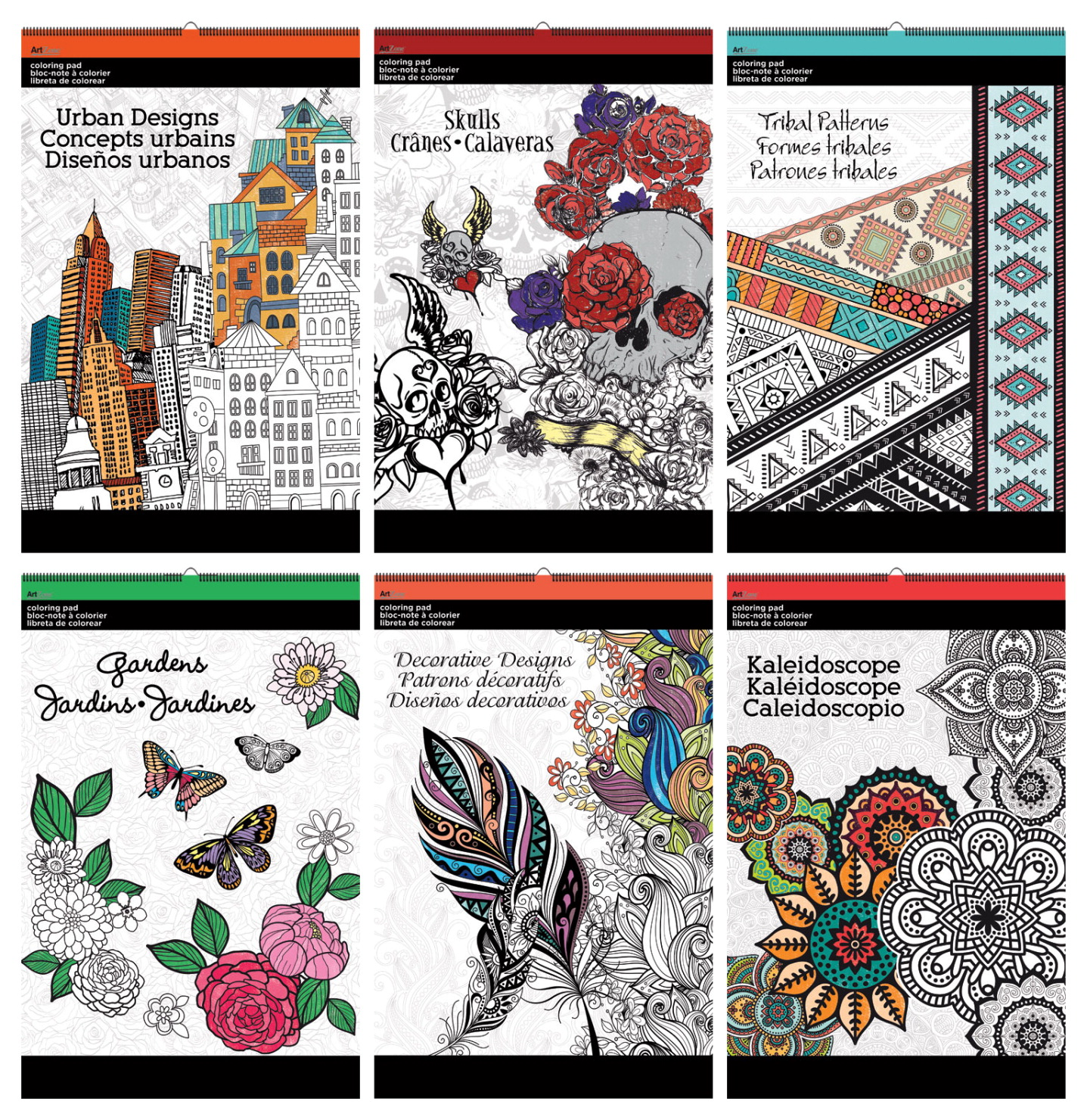 Art Zone Coloring Book : Art Zone Coloring Pads, 6x12 Inches, Assorted Designs, Pack of 6 SCHOOL SPECIALTY MARKETPLACE