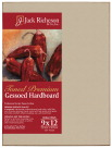Jack Richeson Gessoed Hardboard Panel, 9 x 12 Inches, Umber