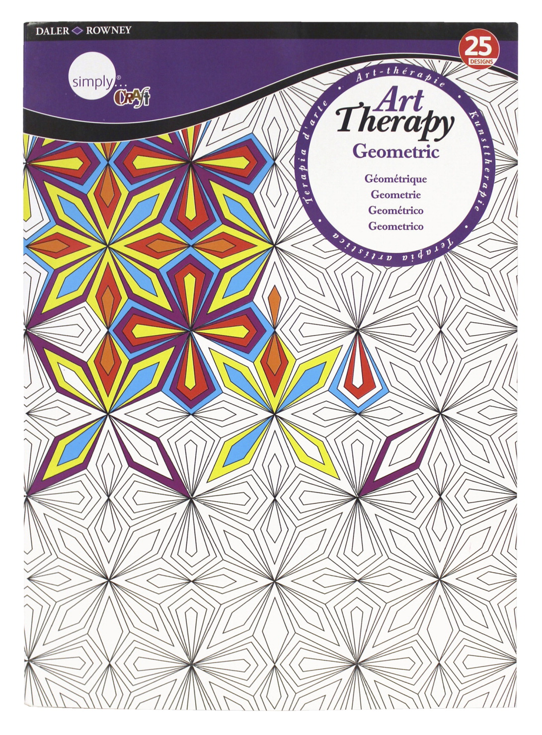 Simply Simmons Art Therapy Geometric Coloring Pad, 8-1/2 x 11 Inches