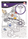 Simply Simmons Art Therapy Utopia Coloring Pad, 5-1/2 x 8 Inches