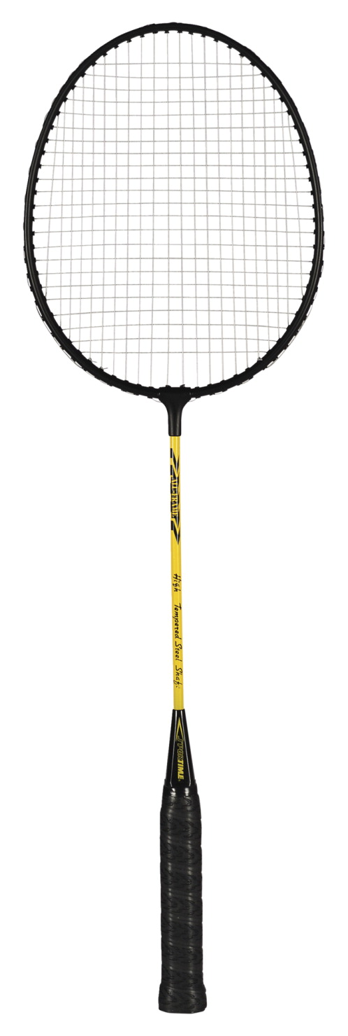 Sportime Yeller Steel-Strung Badminton Racquet, 26 Inches, Black/Yellow