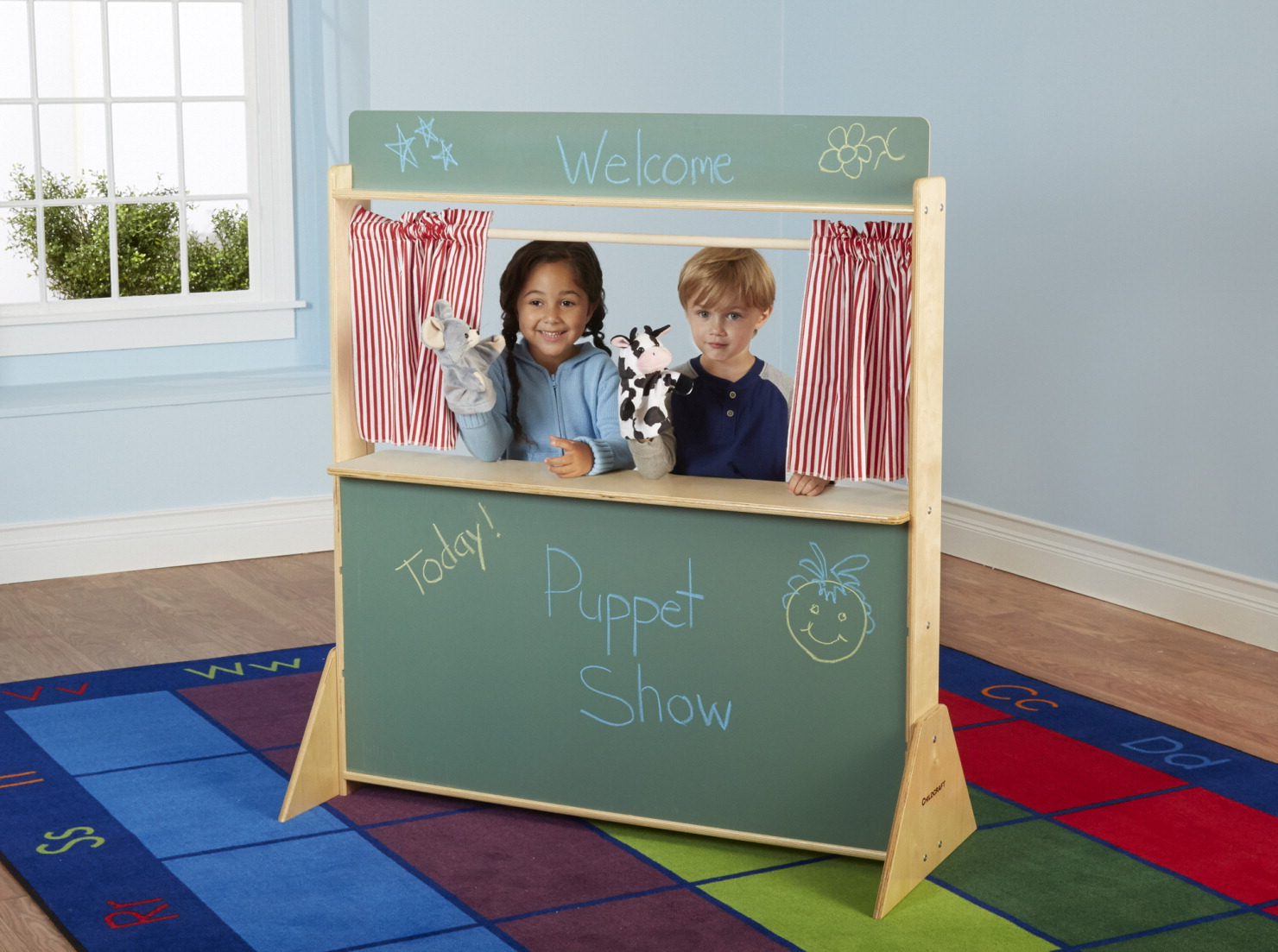 Childcraft Play Store and Puppet Theatre, 45-1/2 x 19-1/2 x 50-3/4 Inches