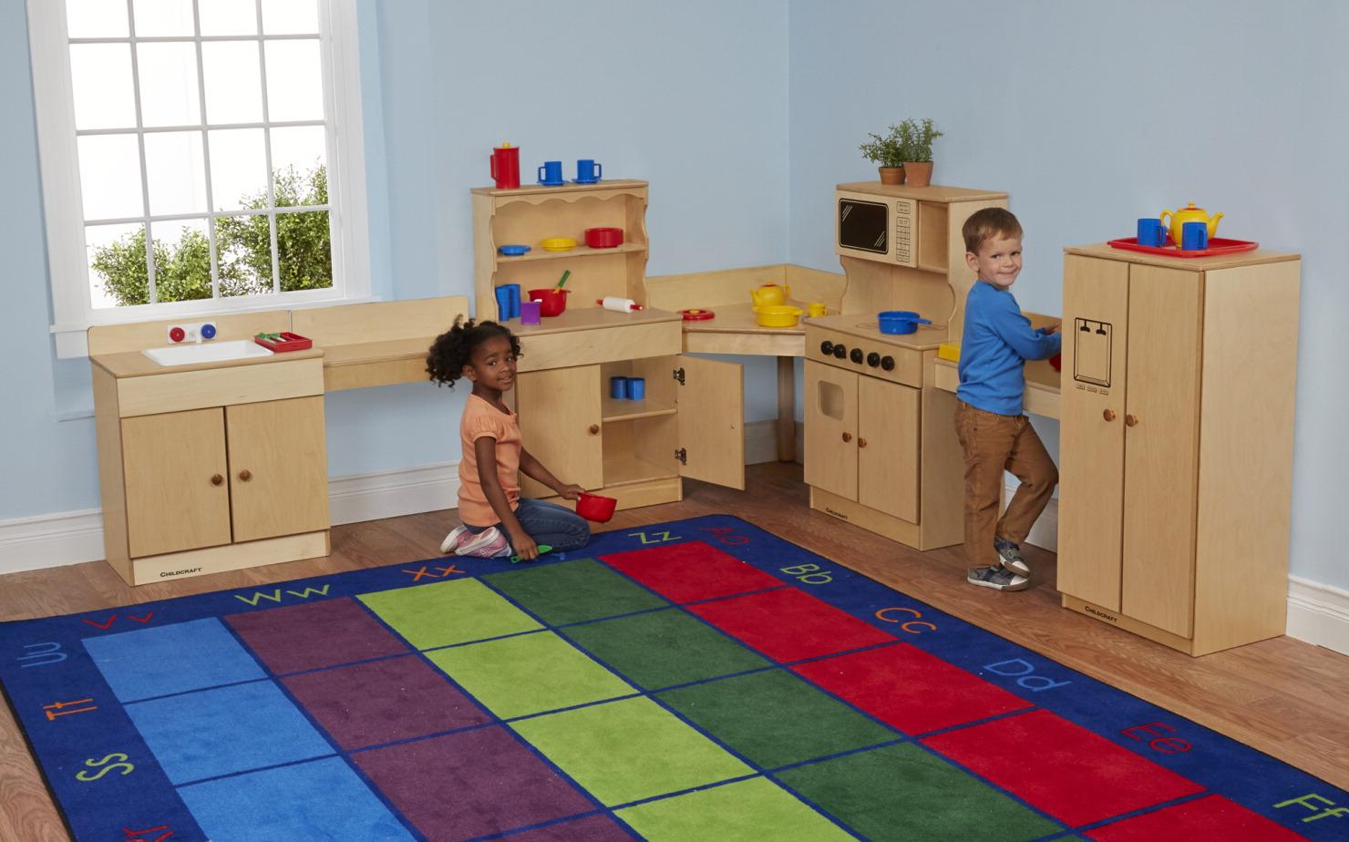 Childcraft traditional kitchen set 7 pieces school for Child craft play kitchen