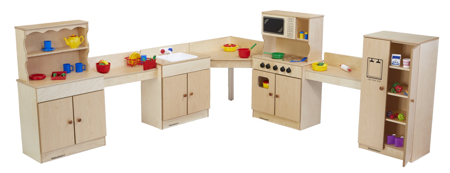 Childcraft play stove microwave combo school specialty for Child craft play kitchen