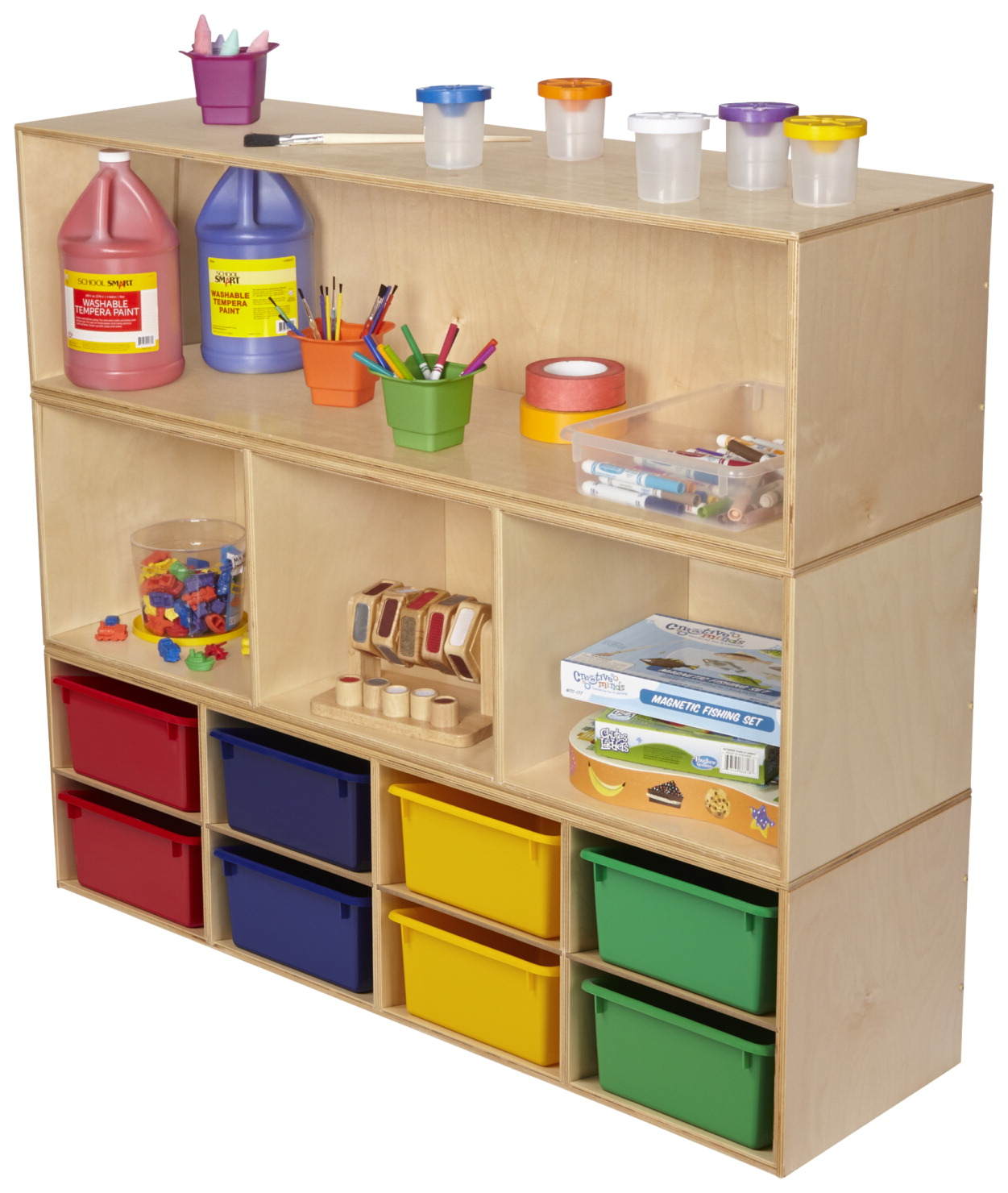 Childcraft Stacker Compartment Storage Open Shelf