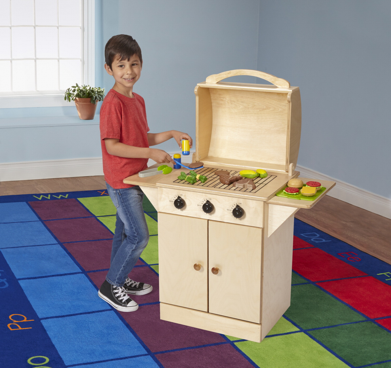 Childcraft play grill school specialty marketplace for Child craft play kitchen