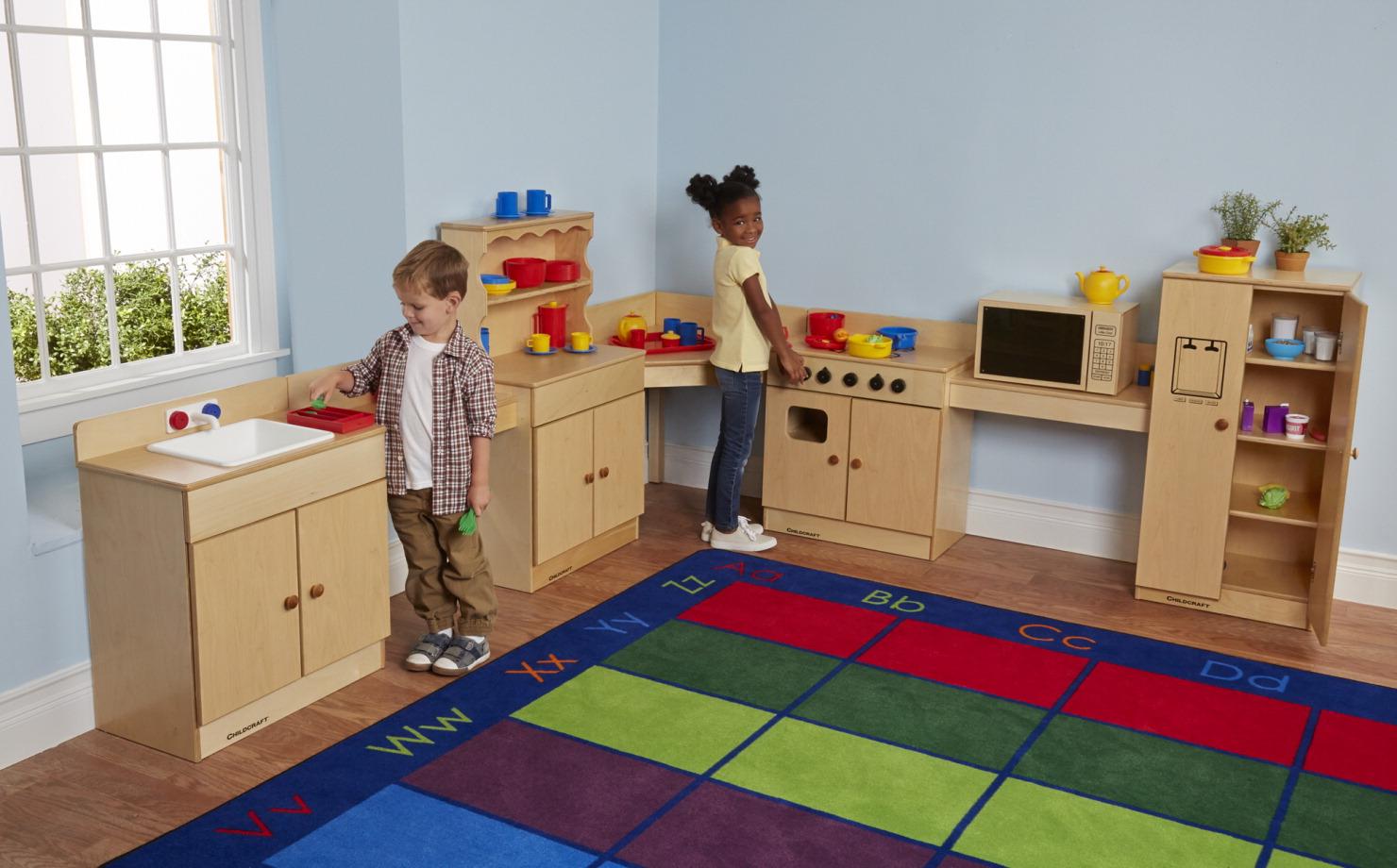 Kitchen set school specialty marketplace for Child craft play kitchen