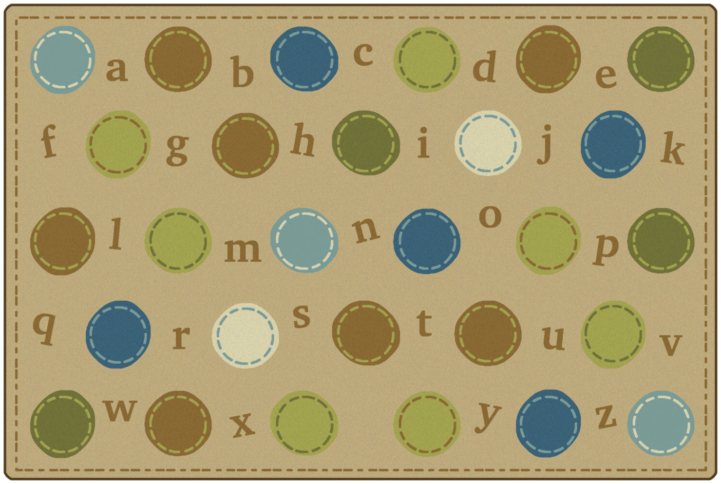 Carpets for Kids KIDSoft Alphabet Dots, 6 x 9 Feet, Rectangle