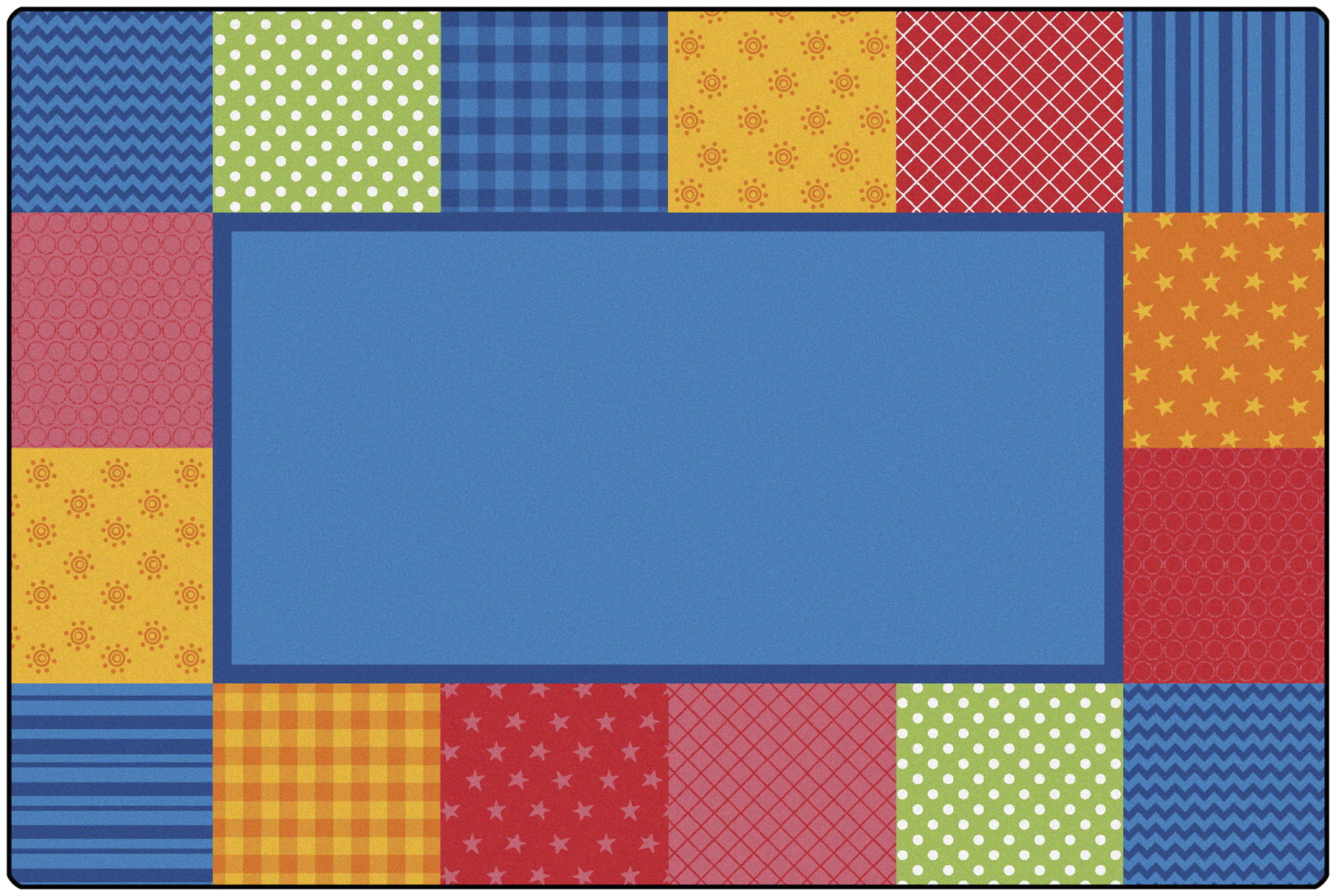 Carpets for Kids KIDSoft Pattern Blocks, 4 x 6 Feet, Rectangle