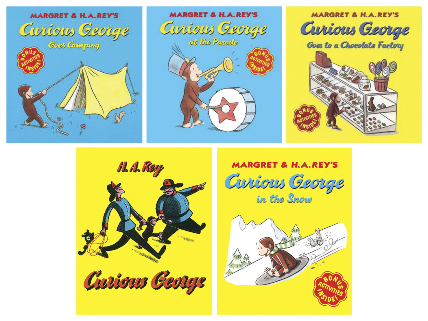 Curious George Library by Margret & H.A. Rey's, Grade PreK to 3, Set of 20