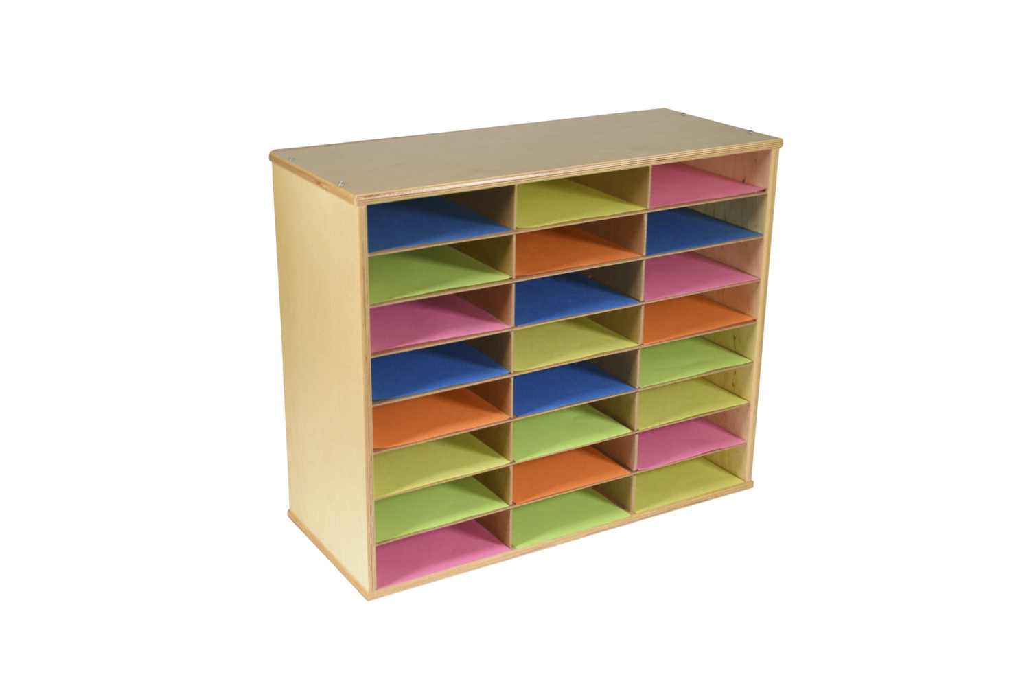 Classroom Select Storage Organizer, 24 Shelves, 29 x 12 x 24 Inches, Natural Wood Exterior