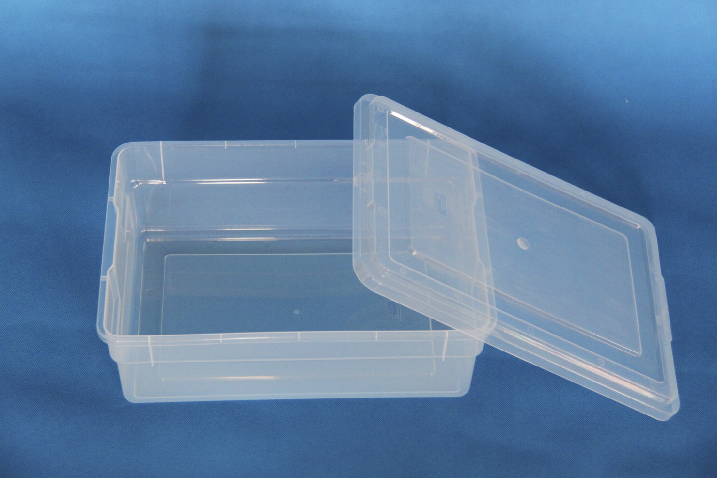 School Smart Storage Box with Lid, 16 x 11 x 6 Inches, Clear