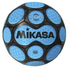 Mikasa Aura Model Soccer Ball, Size 5, Black and Neon Blue